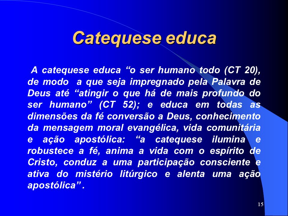 Catequese educa