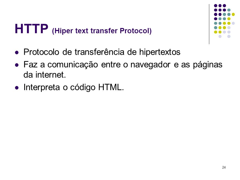 HTTP (Hiper text transfer Protocol)
