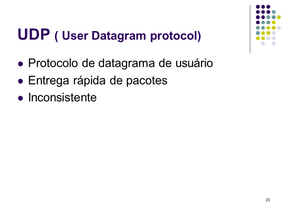 UDP ( User Datagram protocol)