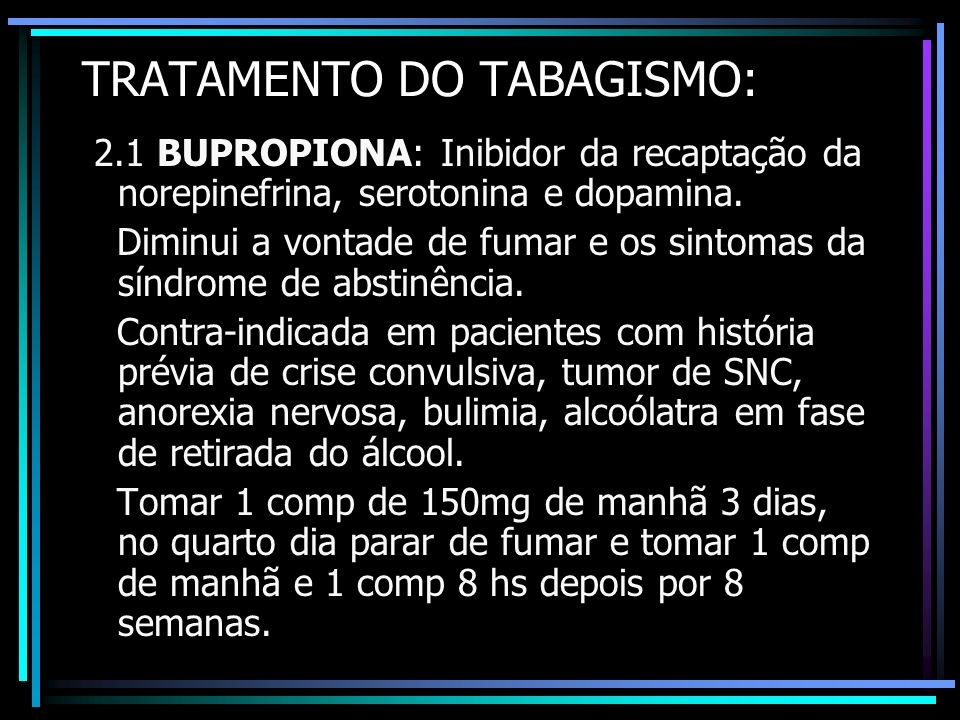 TRATAMENTO DO TABAGISMO: