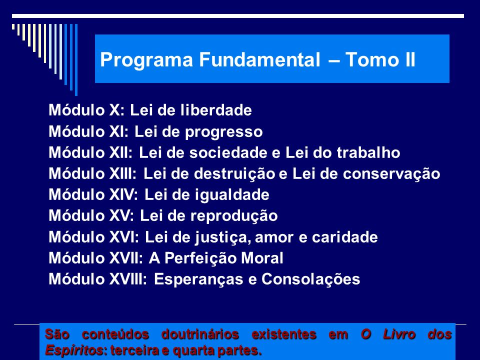 Programa Fundamental – Tomo II
