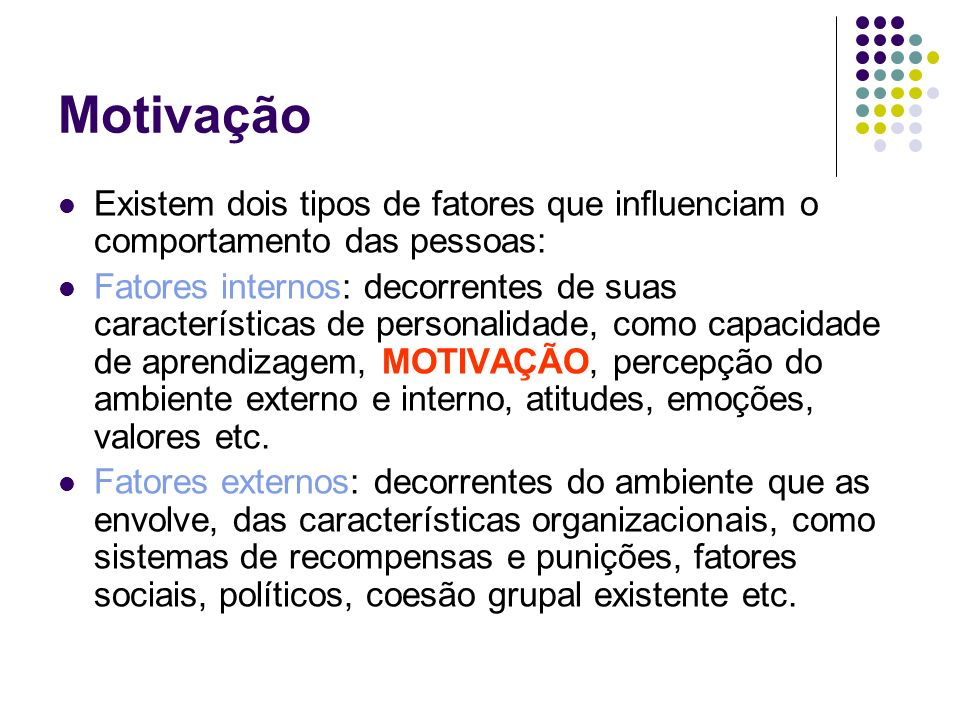 Motivação Texto 05 A Motivação Humana Autor Chiavenato