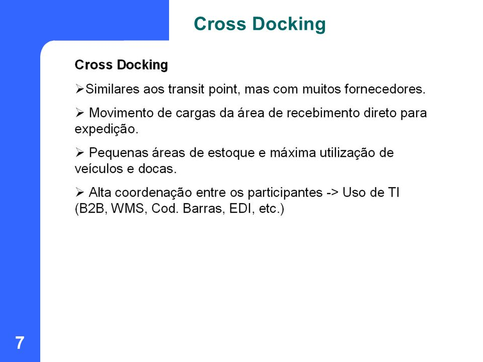 Cross Docking