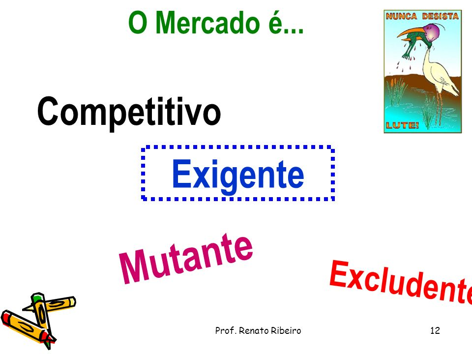 Mutante Competitivo Exigente Excludente O Mercado é...