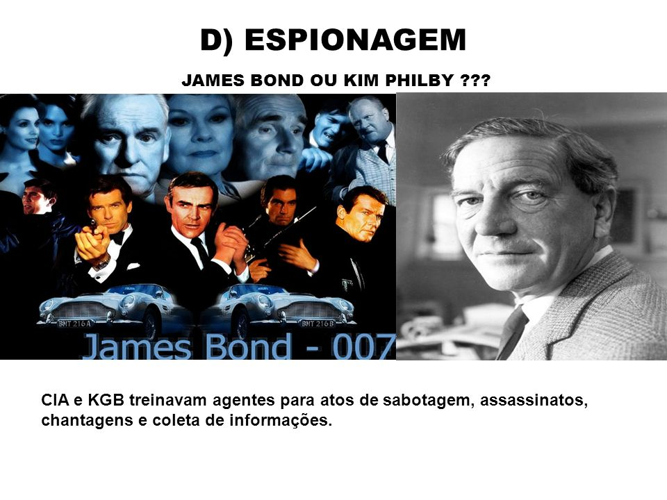 JAMES BOND OU KIM PHILBY