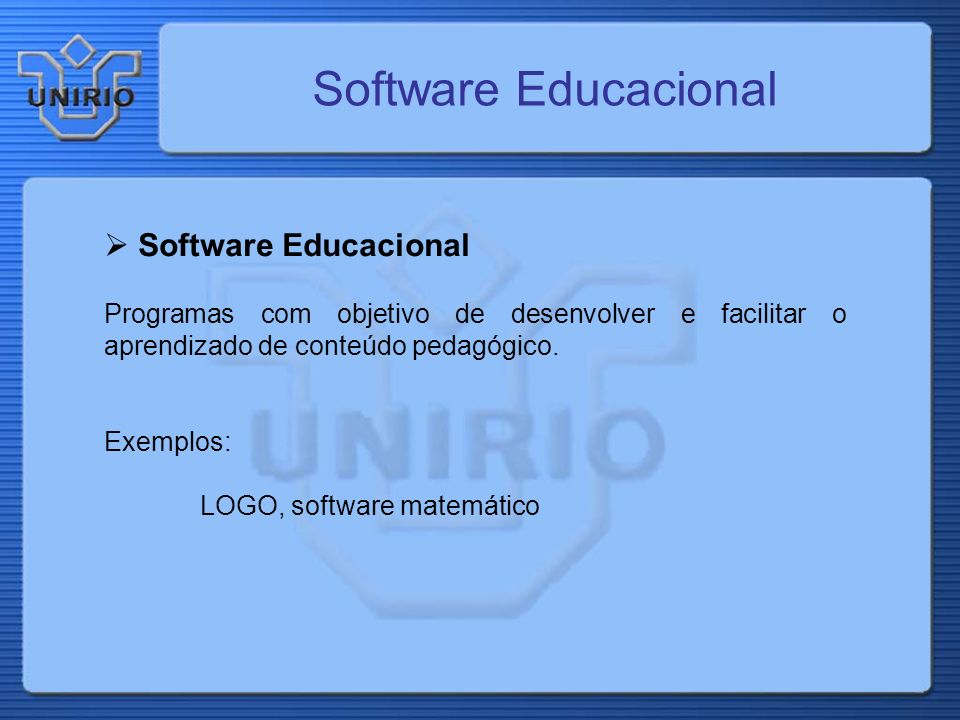 Software Educacional Software Educacional