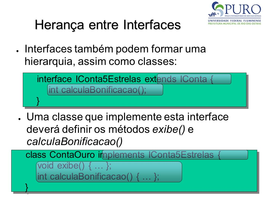 Herança entre Interfaces