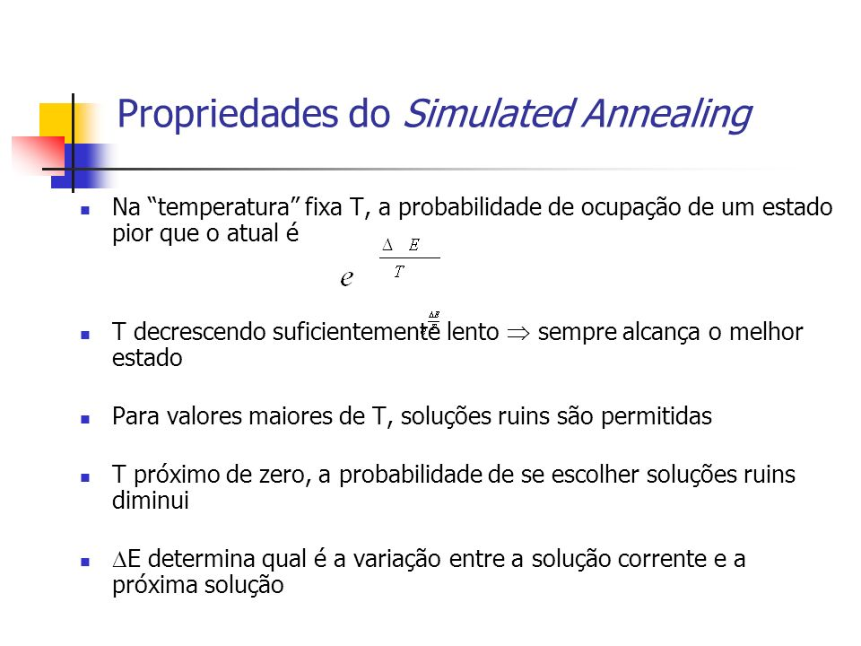 Propriedades do Simulated Annealing