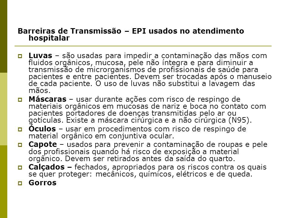 c6c7e7dec6bfd Barreiras de Transmissão – EPI usados no atendimento hospitalar
