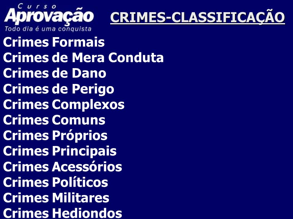 CRIMES-CLASSIFICAÇÃO