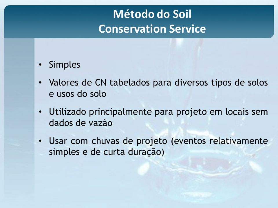 Método do Soil Conservation Service