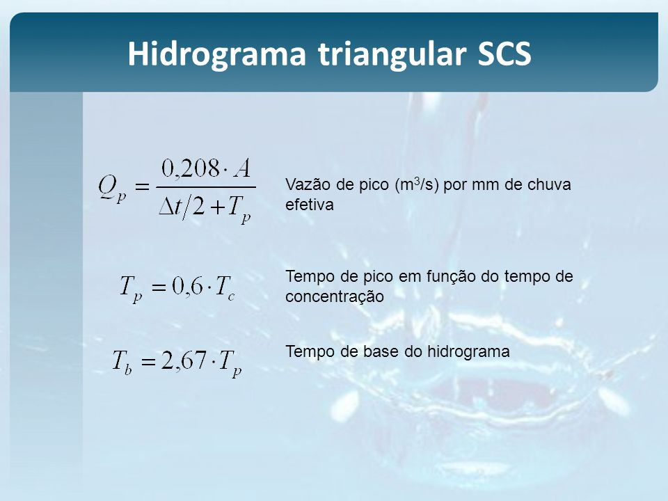 Hidrograma triangular SCS
