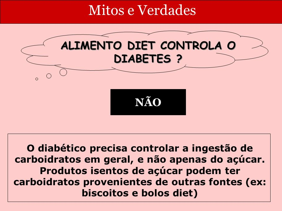 ALIMENTO DIET CONTROLA O DIABETES