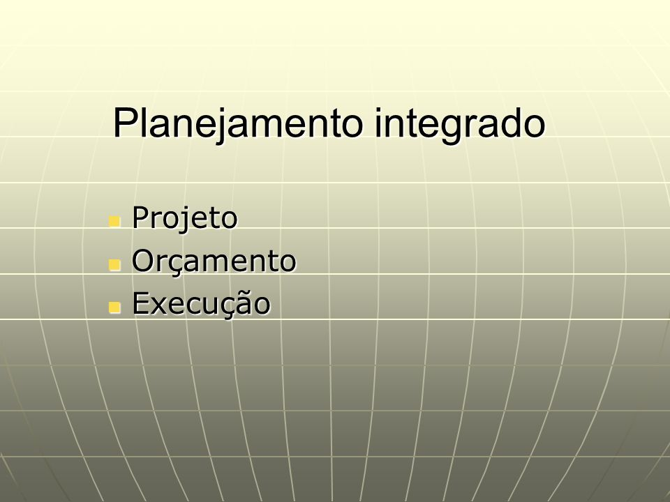Planejamento integrado