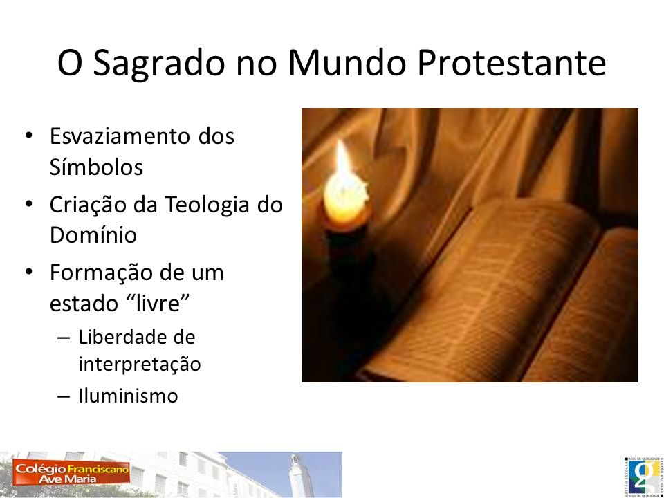 O Sagrado no Mundo Protestante