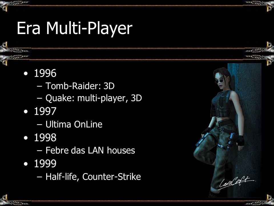 Era Multi-Player 1996 1997 1998 1999 Tomb-Raider: 3D