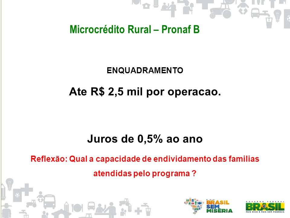 Microcrédito Rural – Pronaf B
