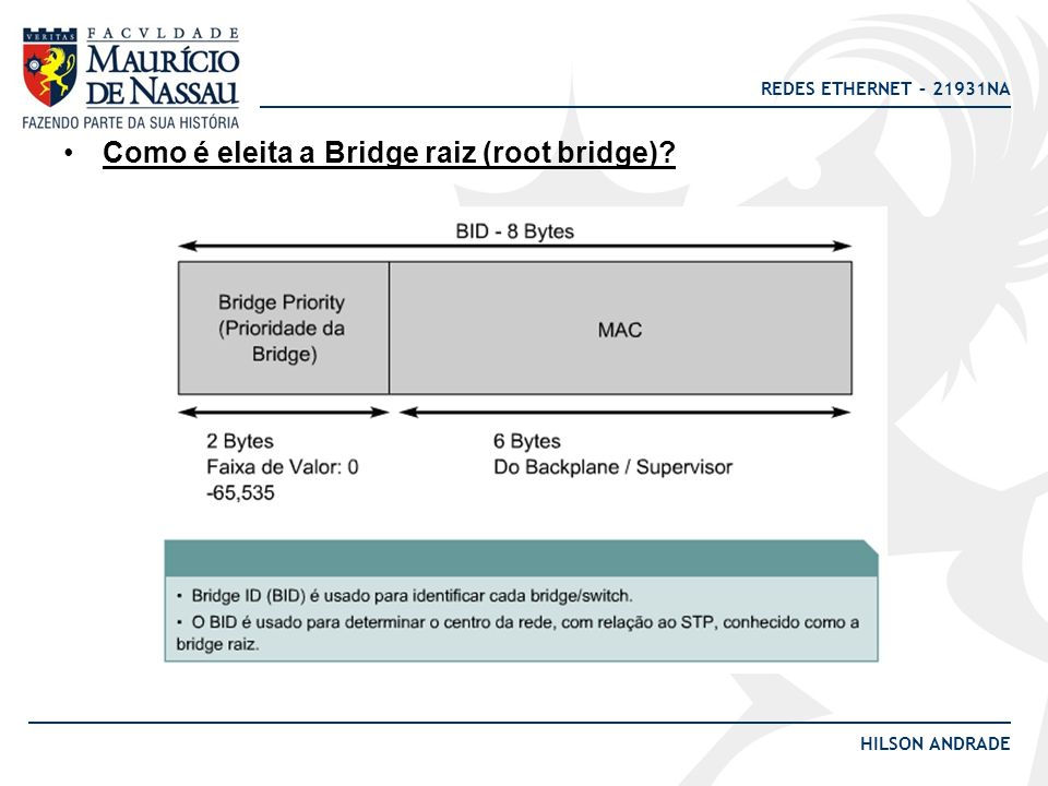 Como é eleita a Bridge raiz (root bridge)