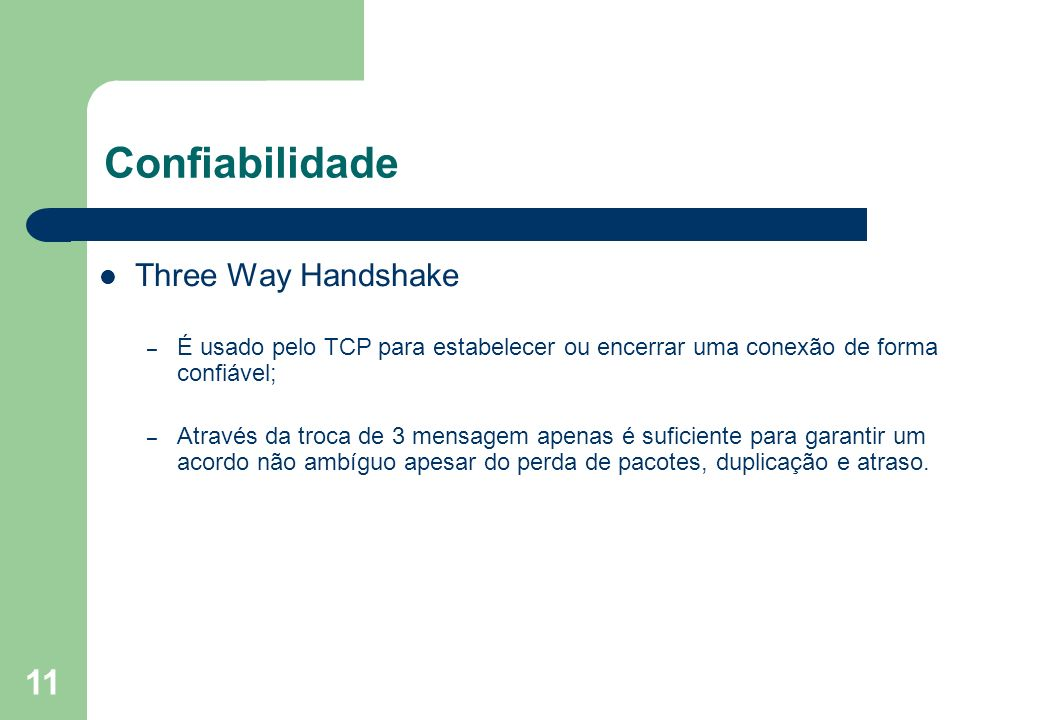 Confiabilidade Three Way Handshake