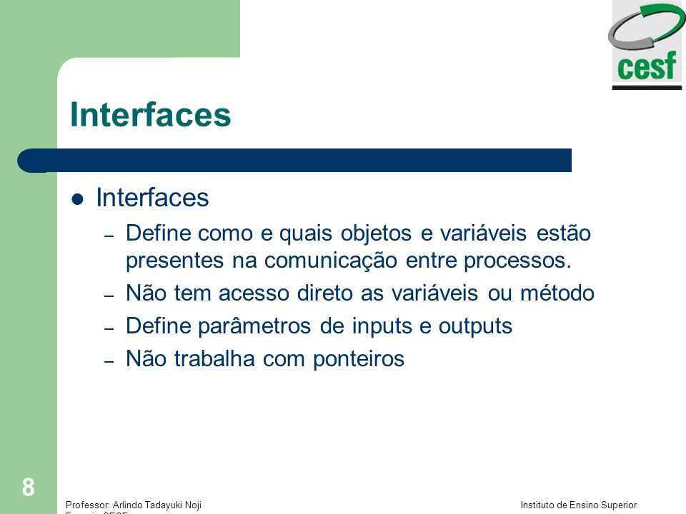 Interfaces Interfaces