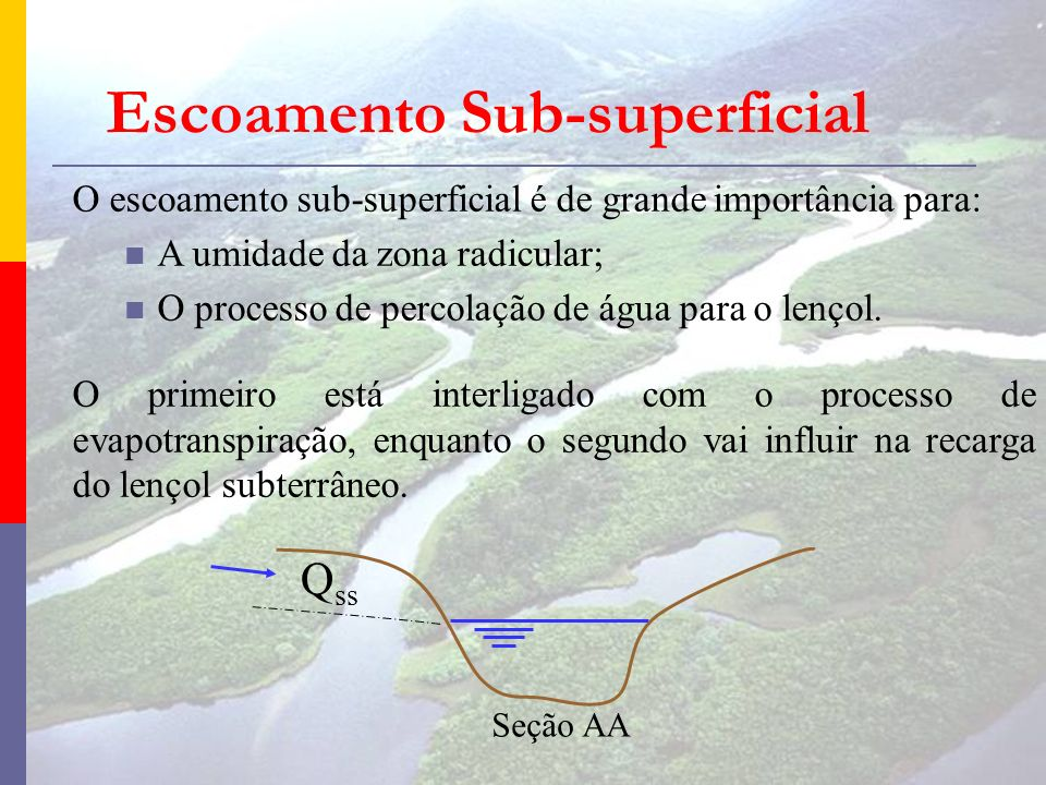 Escoamento Sub-superficial