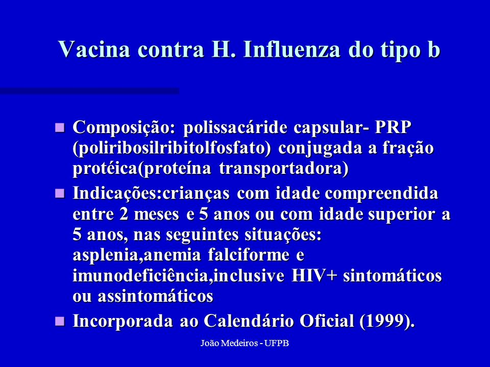 Vacina contra H. Influenza do tipo b