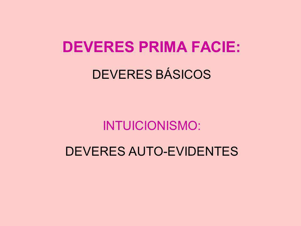 DEVERES AUTO-EVIDENTES