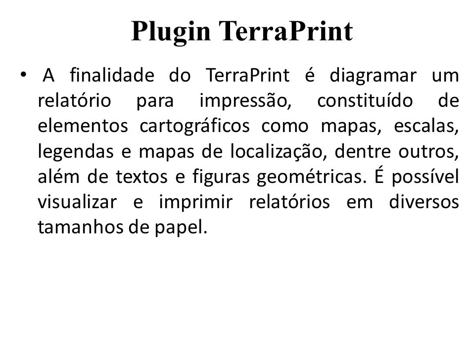Plugin TerraPrint