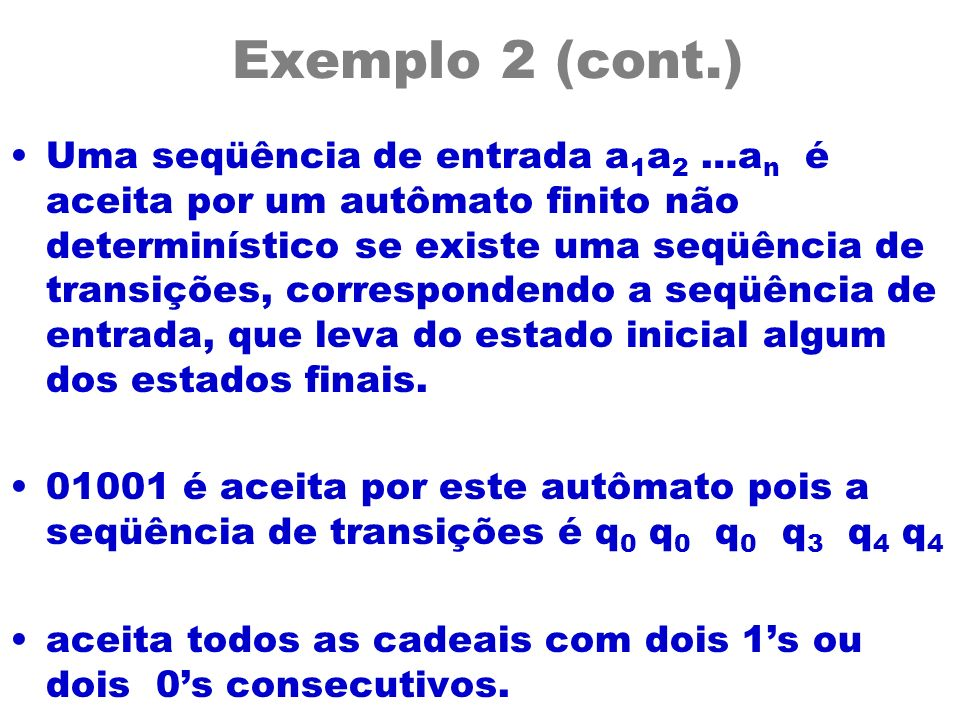Exemplo 2 (cont.)