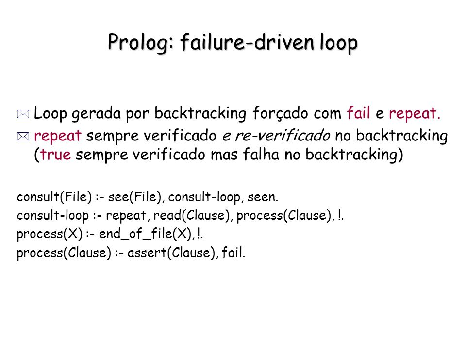 Prolog: failure-driven loop