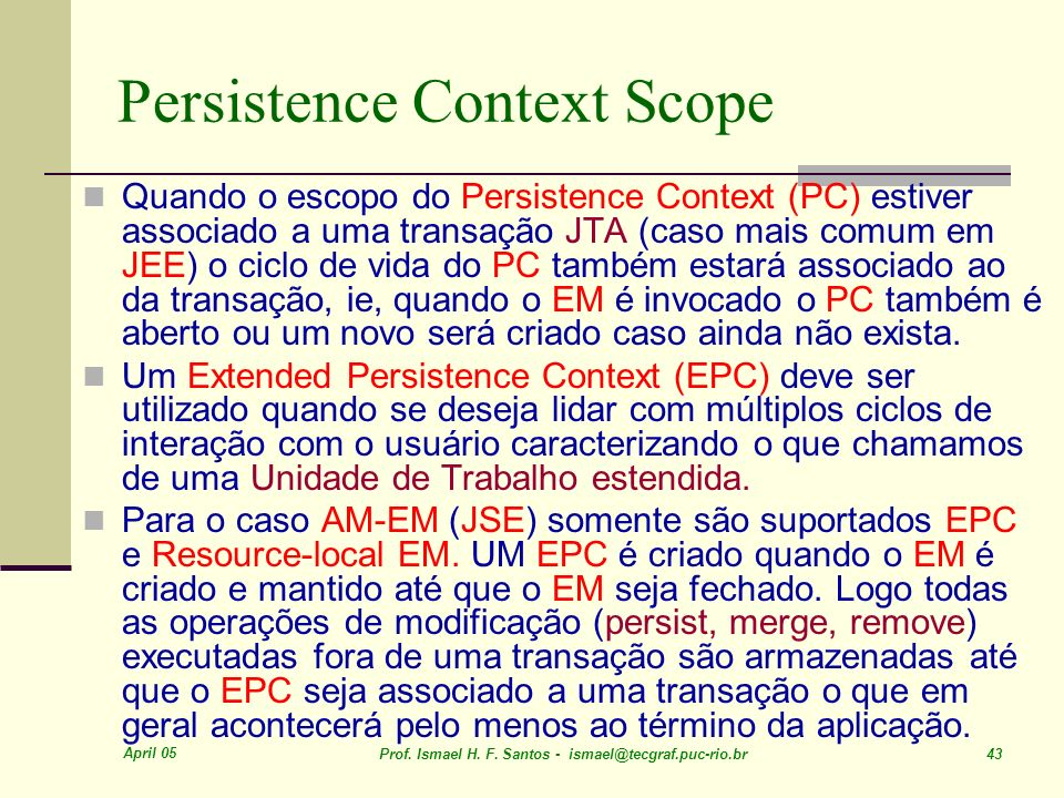 Persistence Context Scope