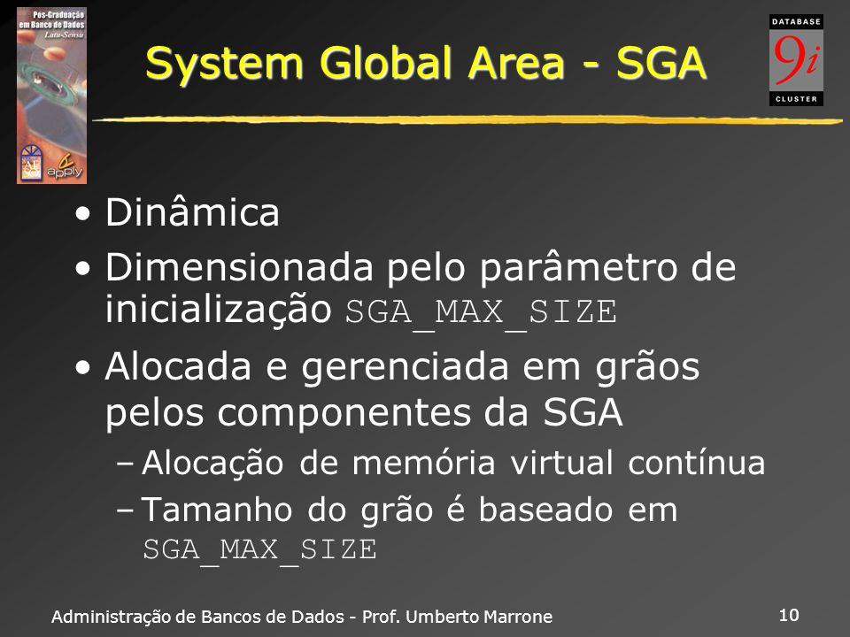 System Global Area - SGA