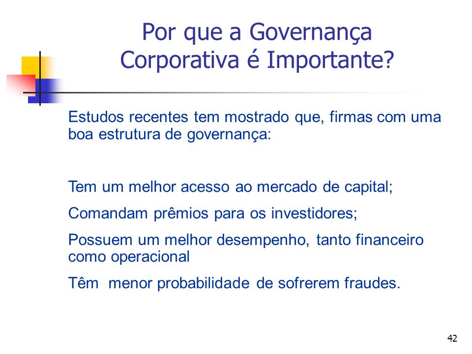 Por que a Governança Corporativa é Importante