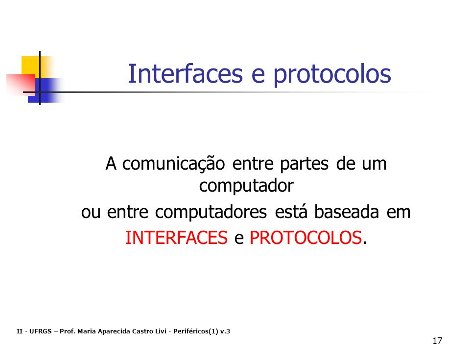 Interfaces e protocolos