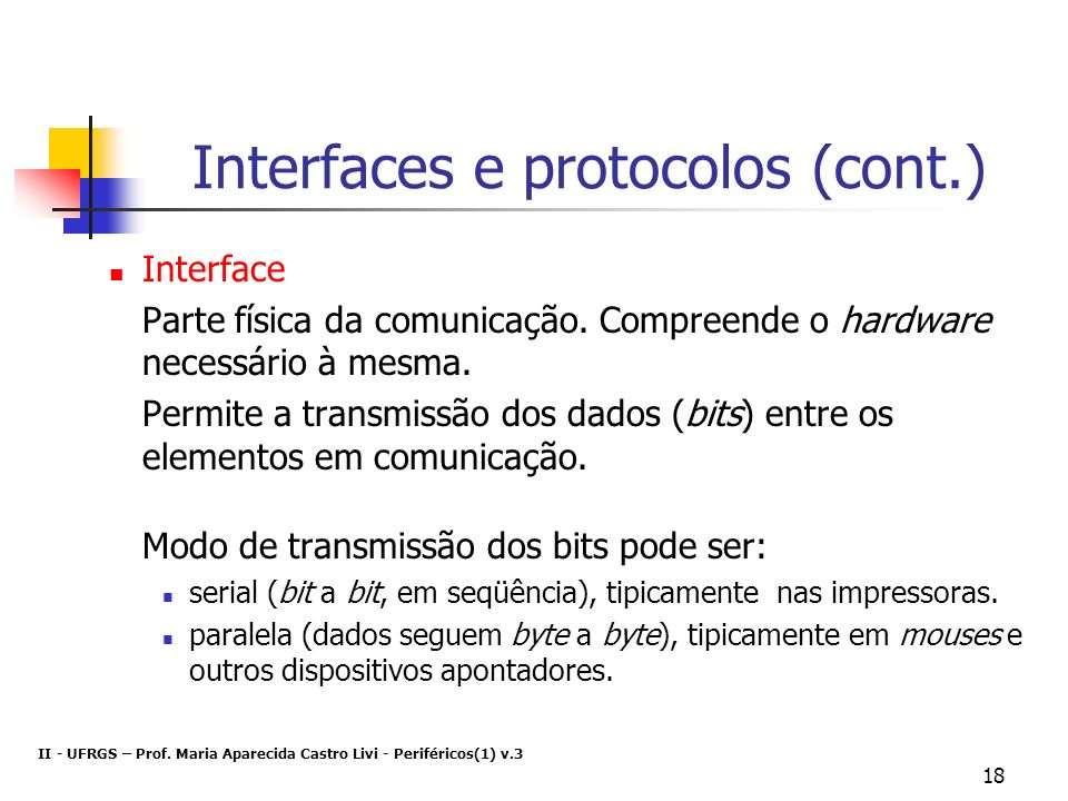 Interfaces e protocolos (cont.)