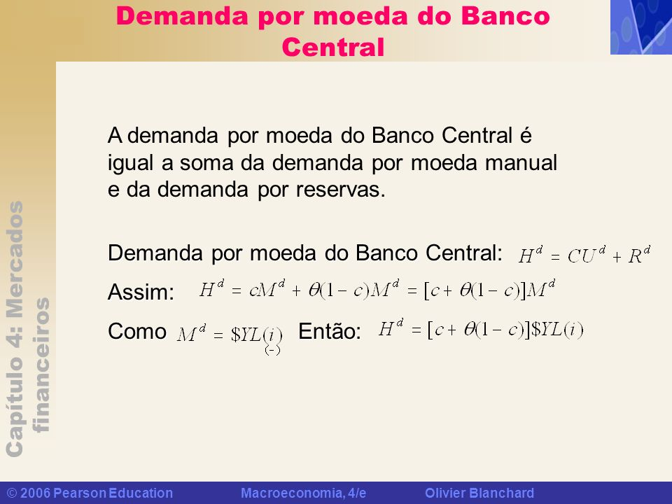 Demanda por moeda do Banco Central