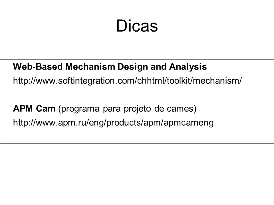 Dicas Web-Based Mechanism Design and Analysis