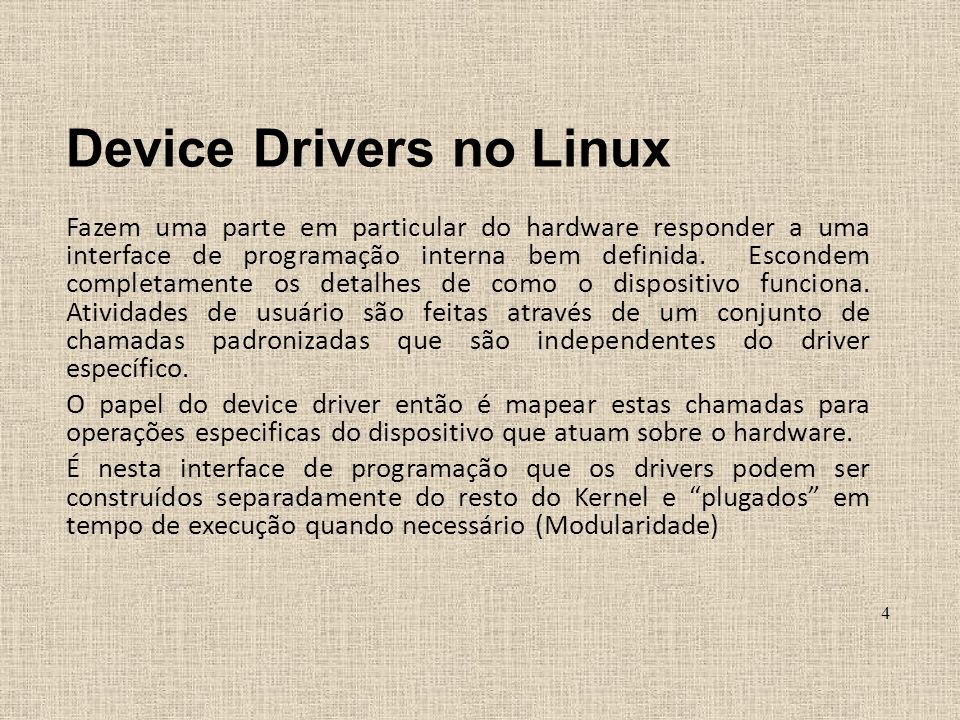 Device Drivers no Linux