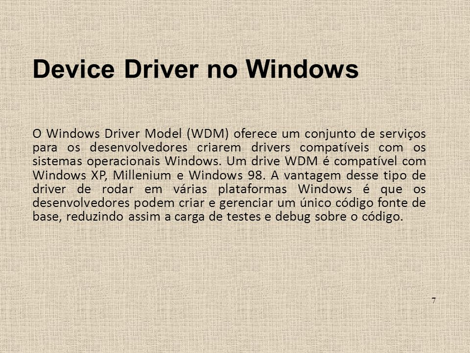 Device Driver no Windows