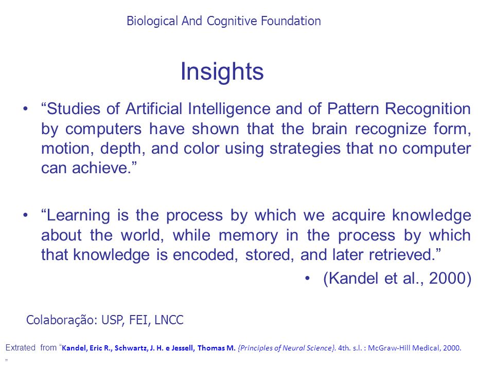 Biological And Cognitive Foundation