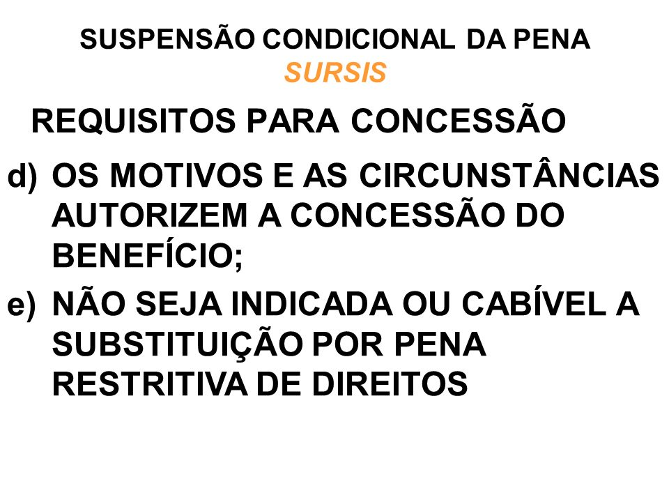REQUISITOS PARA CONCESSÃO