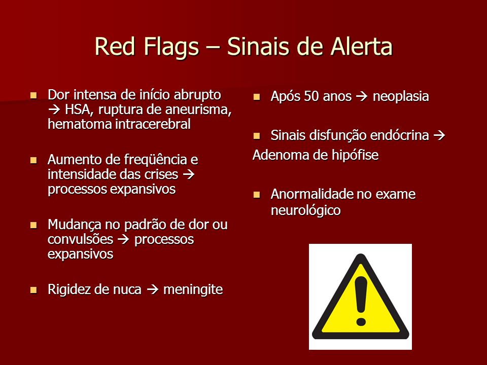 Red Flags – Sinais de Alerta