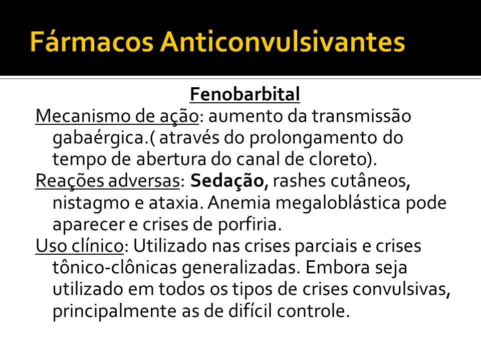Fármacos Anticonvulsivantes