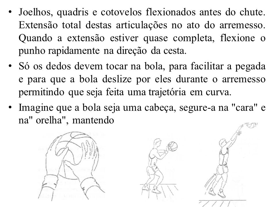Joelhos, quadris e cotovelos flexionados antes do chute