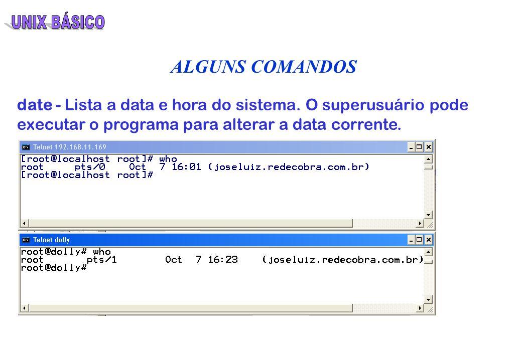 UNIX BÁSICO UNIX BÁSICO Curso desenvolvido pela Cobra