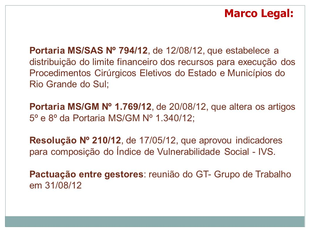 Marco Legal: