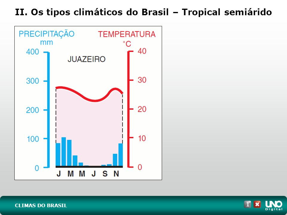 II. Os tipos climáticos do Brasil – Tropical semiárido