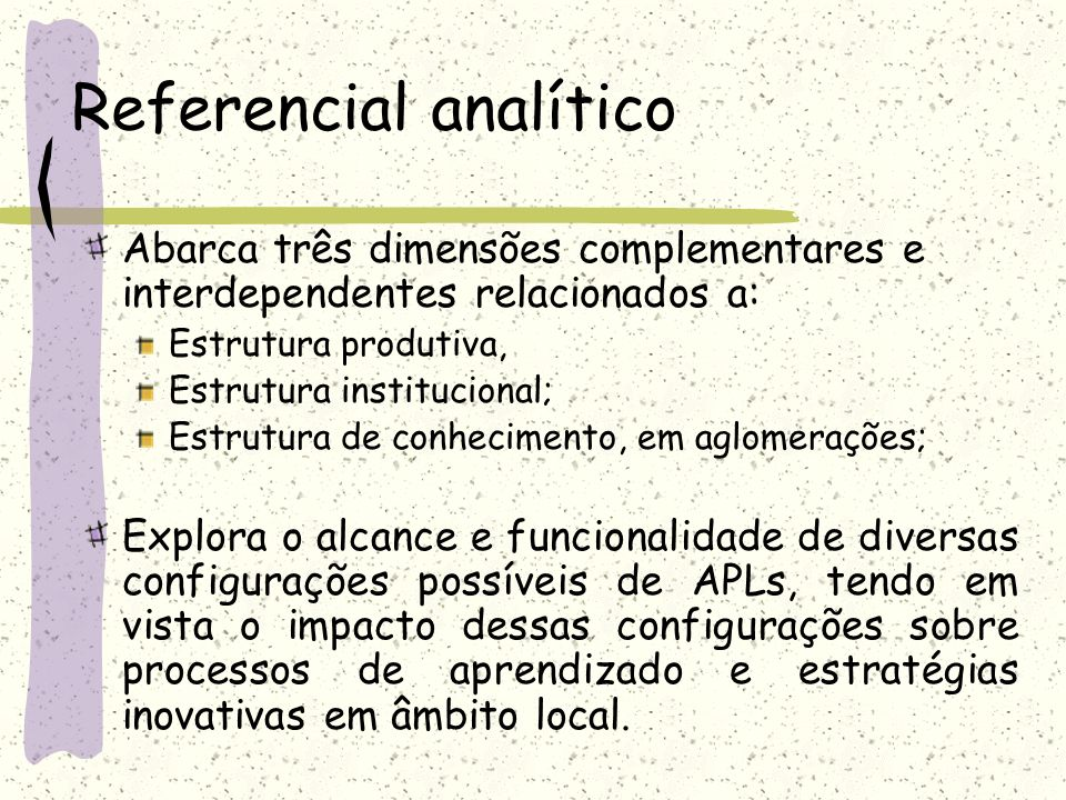Referencial analítico