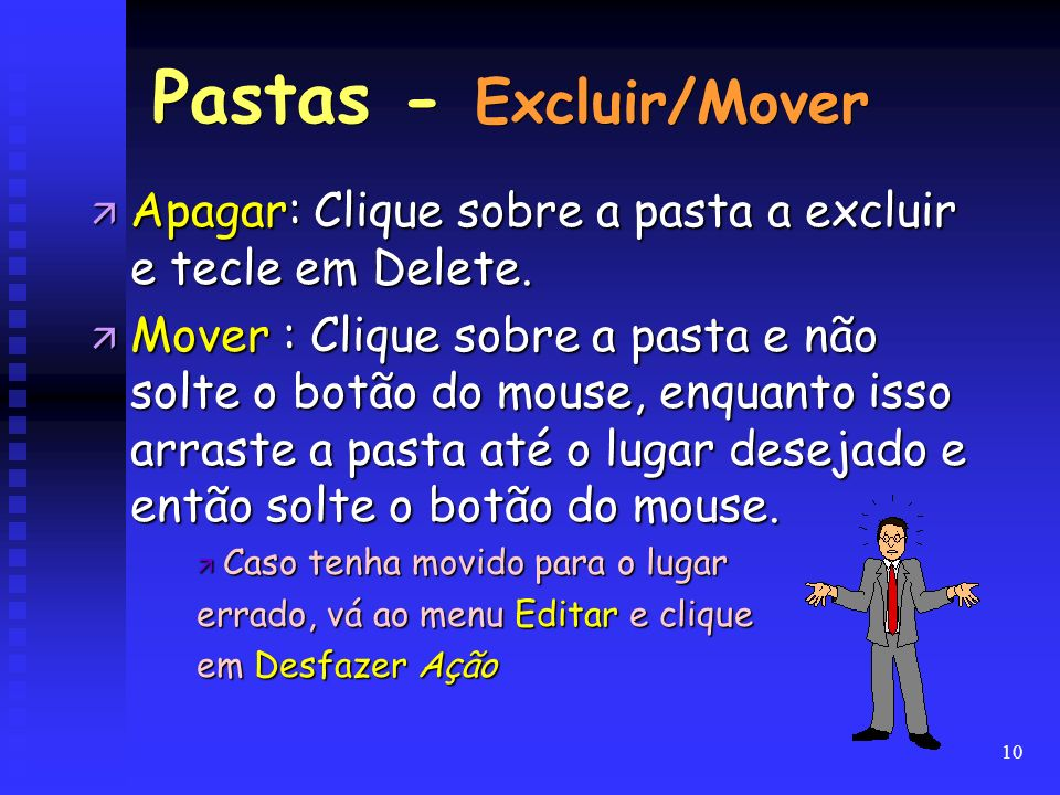 Pastas - Excluir/Mover