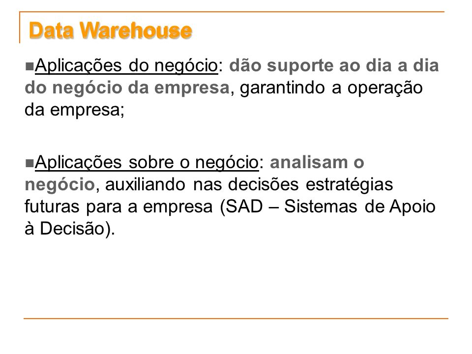Data Warehouse Data Warehouse